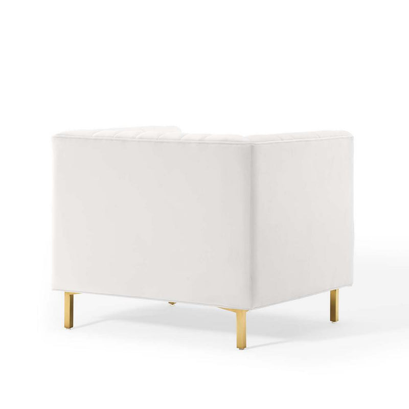 Modway Shift Channel Tufted Performance Velvet Armchair