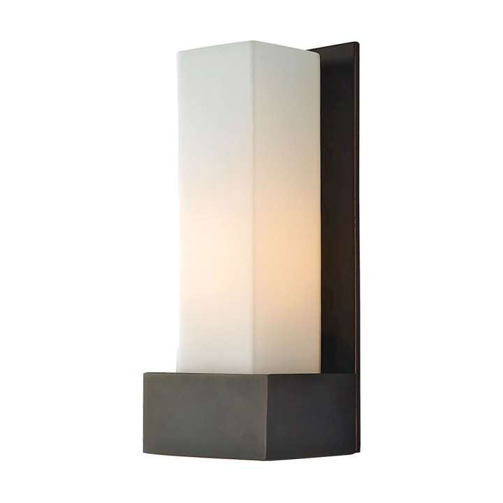 Solo Tall 1-Light Sconce in Oil Rubbed Bronze with White Opal Glass ELK Lighting