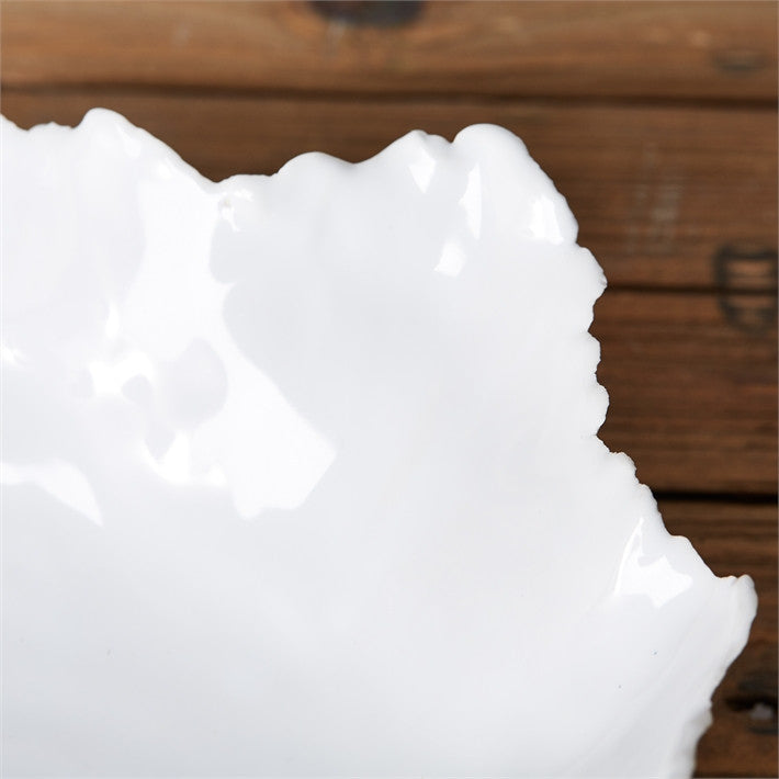 Tozai White Free Form Ceramic Bowls - 2Pc/Box - Set Of 2
