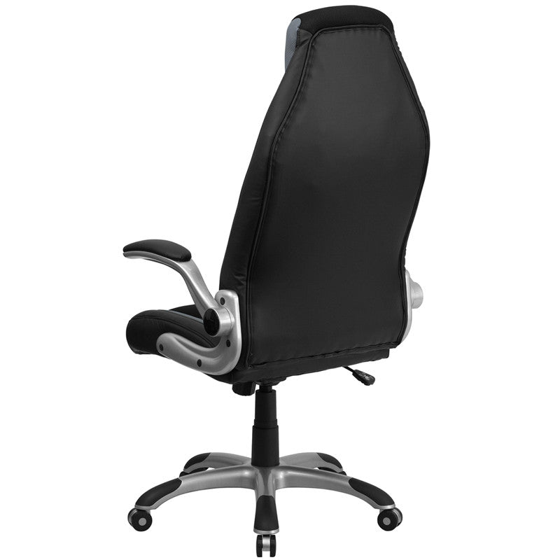 Flash Furniture High Back Black & Gray Vinyl Executive ...