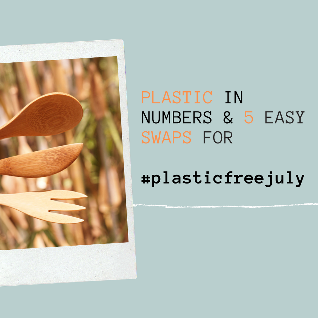 Plastic in numbers & 5 Easy Swaps for #plasticfreejuly