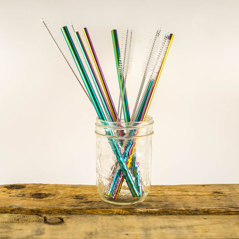 Stainless Steel Rainbow Straw