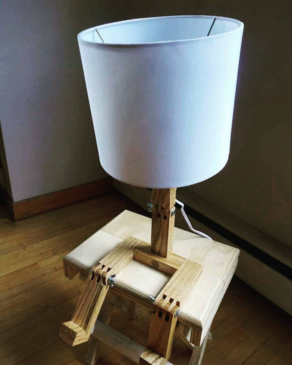 Wooden Lamp 'The Dude'