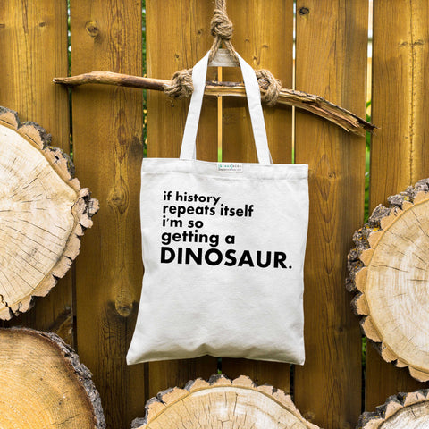 I'm so getting a dinosaur ⋆ Organic Cotton Tote Bag