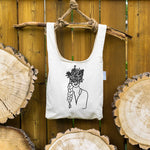 Headful of flowers ⋆ Organic Cotton Tote Bag