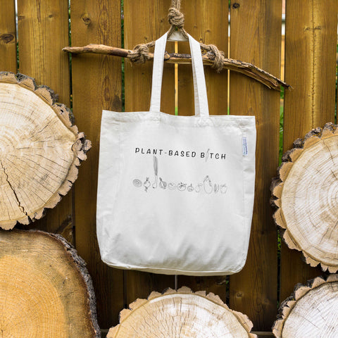 Plant-based B*tch ⋆ Organic Cotton Tote Bag