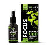 Vitality CBD Active Focus Drops 30ml 500mg-1000mg