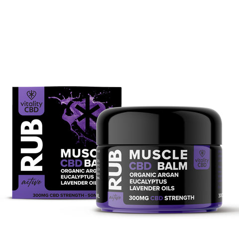 Vitality CBD Active Muscle Rub 50ml 300mg