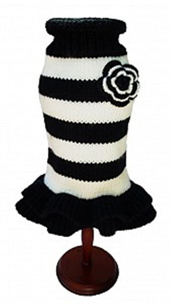 Black and White Sweater Dress by Dallas Dogs - UKUSCAdoggie