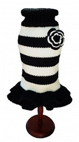 Black and White Sweater Dress by Dallas Dogs