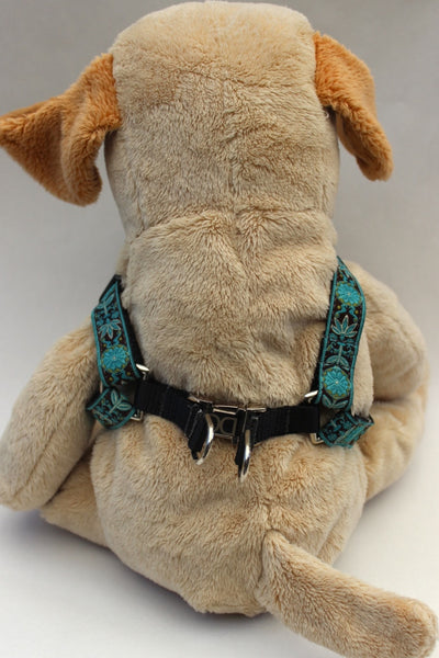Boho Peacock Step-In Dog Harness by Diva-Dog - UKUSCAdoggie