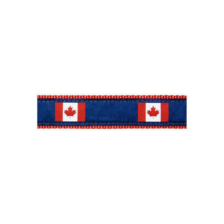 Canadian Flag Dog Collar by Preston - UKUSCAdoggie