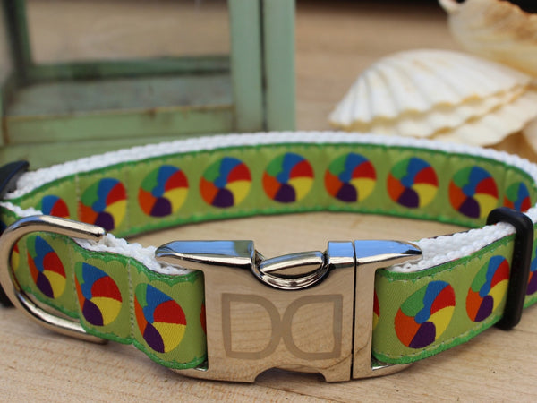 Another view of the best-selling Moondoggie Dog Collar by Diva-Dog