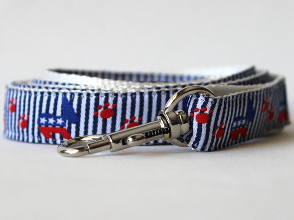 Democratic Doggie Collar and Leash Set by Diva-Dog - UKUSCAdoggie