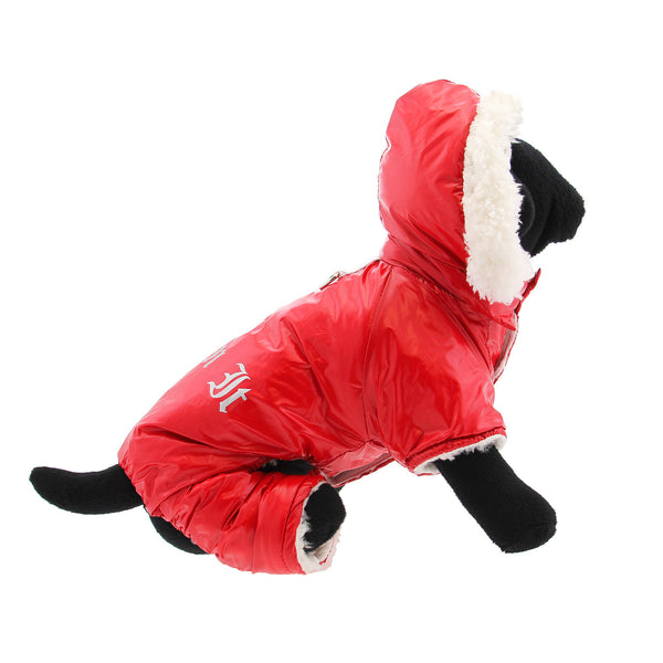 Stylish and Functional - the Red Ruffin It Dog Snow Suit Harness by Doggie Design - UKUSCAdoggie