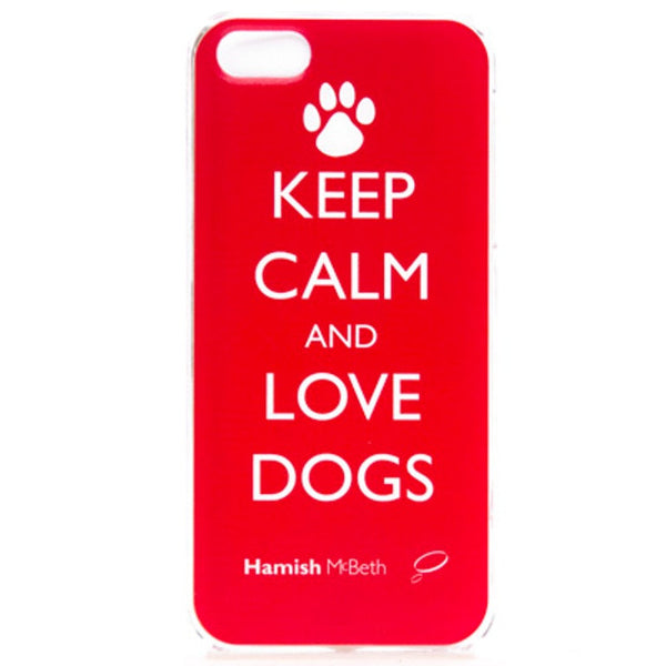 Keep Calm and Love Dogs Smart Phone Cover by Hamish McBeth
