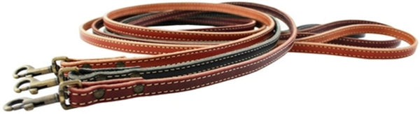 Lake Country Stitched Dog Leash by Auburn Leathercrafters