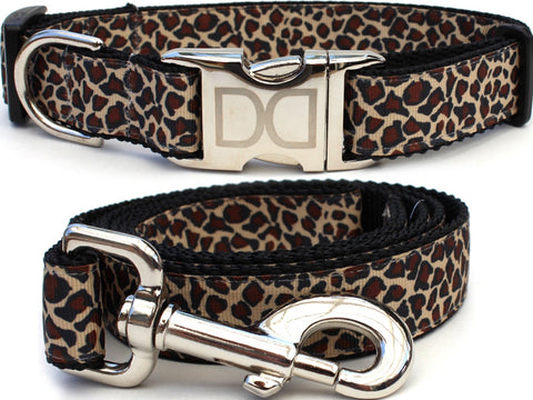 Leaping Leopard Dog Collar & Leash by Diva-Dog