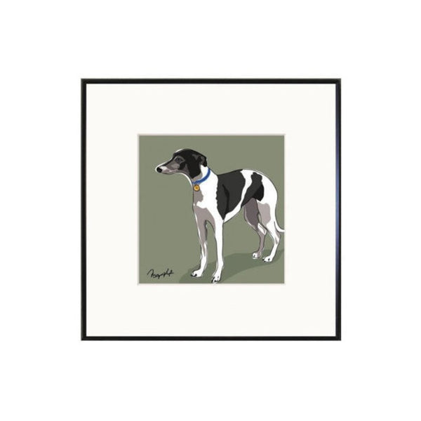 Limited Edition Whippet Print by Paper Russells