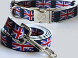 London Calling Dog Collar and Leash Set by Diva-Dog