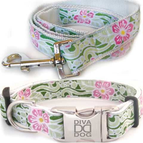 Maui Dog Collar and Leash Set by Diva-Dog