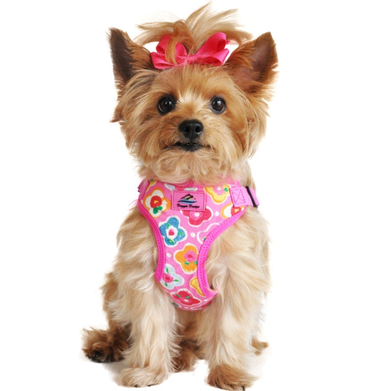 Maui Pink Wrap and Snap Choke Free Dog Harness by Doggie Design