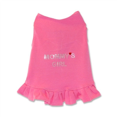 Hot Pink Mommy's Girl Dog Tank by Daisy and Lucy