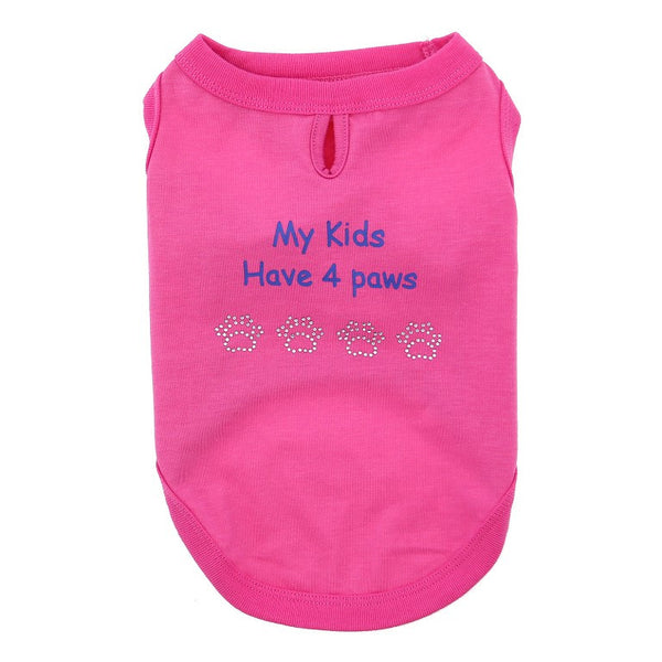 My Kids Have 4 Paws Designer Dog Tank - Close Up
