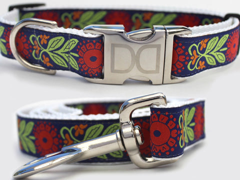 Perfect Poppy Dog Collar and Leash by Diva-Dog