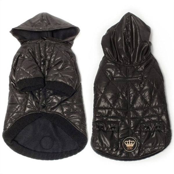 Quilted Jacket by Dogs of Glamour-Black