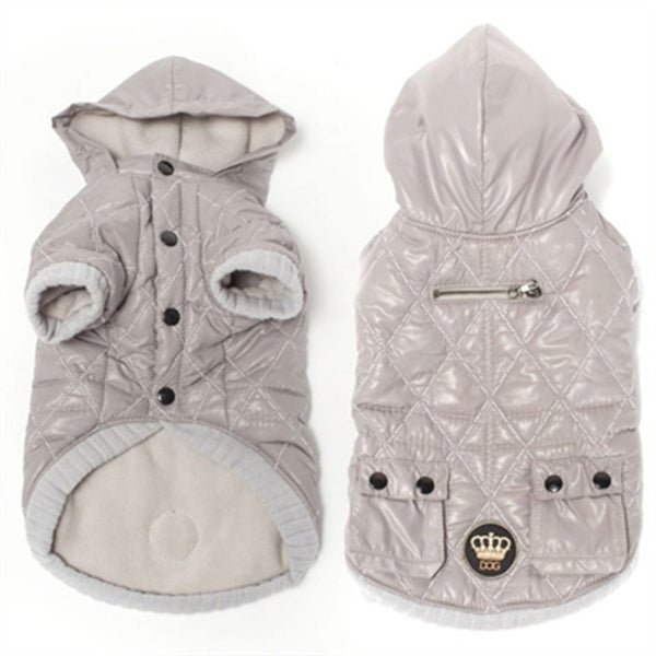 Quilted Jacket by Dogs of Glamour-Grey