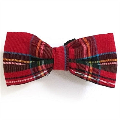 Perfect for your Dappy Doggie! The Red Stewart Plaid Bow Tie by Daisy and Lucy