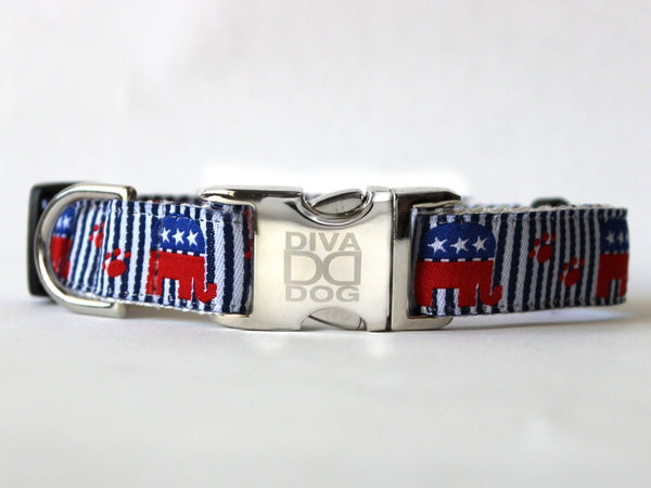 Republican Doggie Collar by Diva-Dog