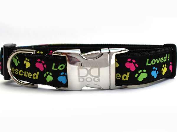 Rescue Me Dog Collar by Diva-Dog