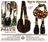 Rich Rhino Puppy Sling Pouch by Pet Flys - Information