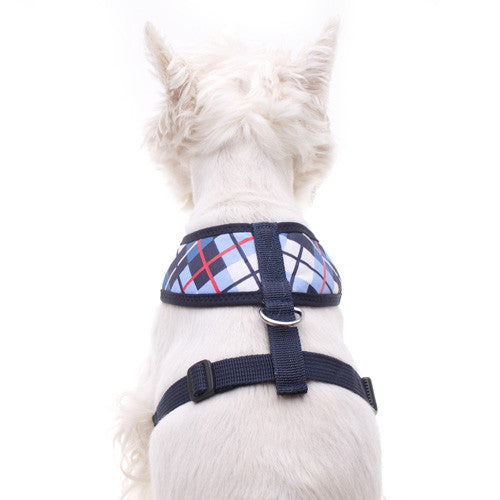 Fit of the Tartan Blue Dog Harness by Hamish McBeth