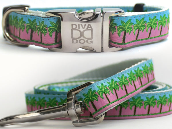 South Beach Collar and Leash Set by Diva-Dog