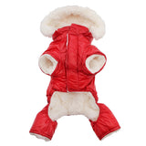Red Ruffin It Dog Snow Suit Harness - Underside - Doggie Design - UKUSCAdoggie