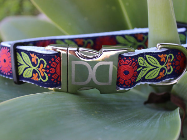 The Stylish Perfect Poppy Dog Collar and Leash by Diva-Dog