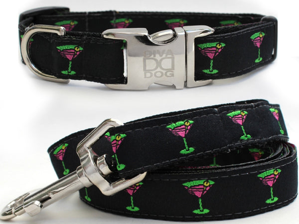 Yappy Hour Collar and Leash Set by Diva-Dog
