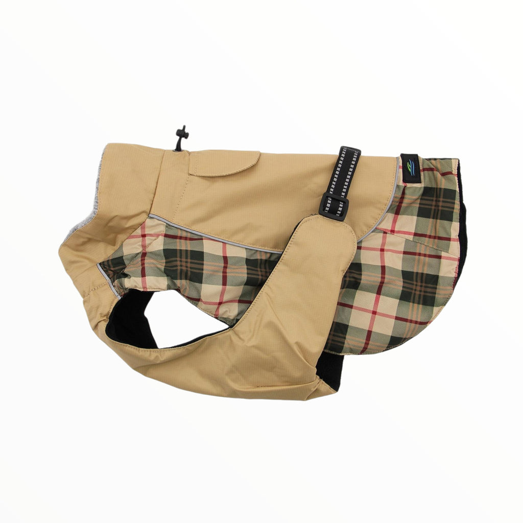 alpine-all-weather-dog-coat-beige-plaid