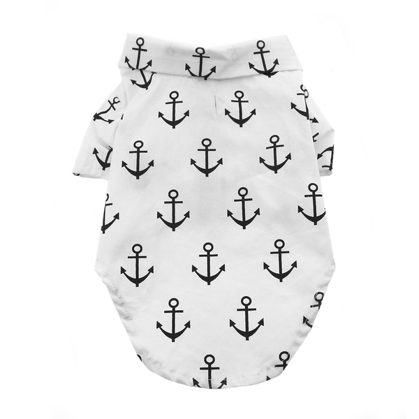Anchors Aweigh Hawaiian Camp Shirt for Dogs