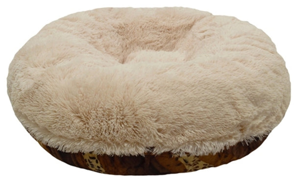 bagel-dog-bed-with-shag-fabric