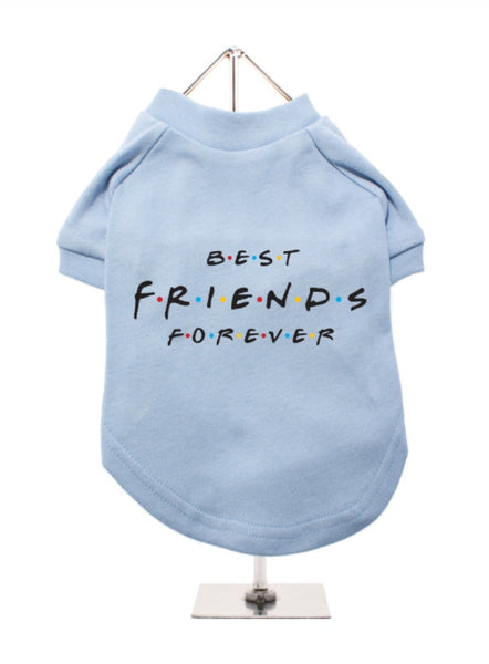 Best Friends Forever Dog T-Shirt in baby blue