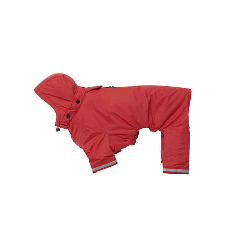 Buster Aqua Dog Raincoat - Red