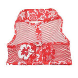 cool-mesh-dog-harness-hawaiian-hibiscus-red-close-up