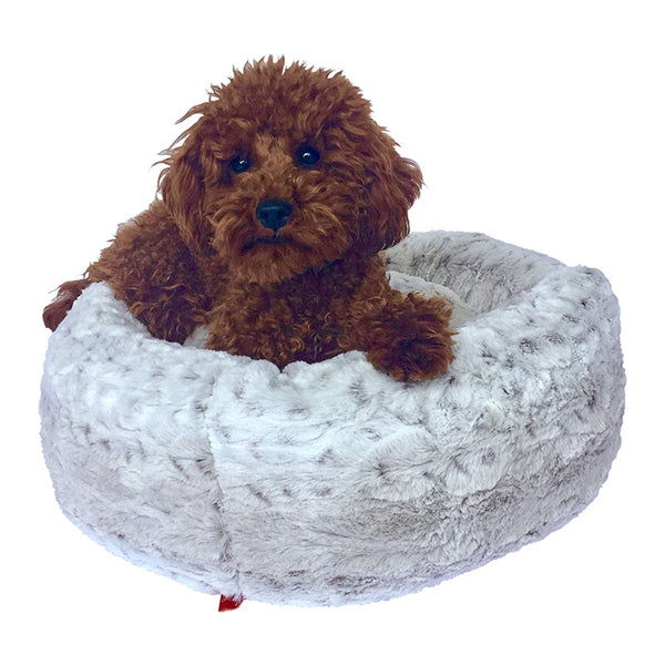 frosted-snow-leopard-crispy-creme-donut-dog-bed