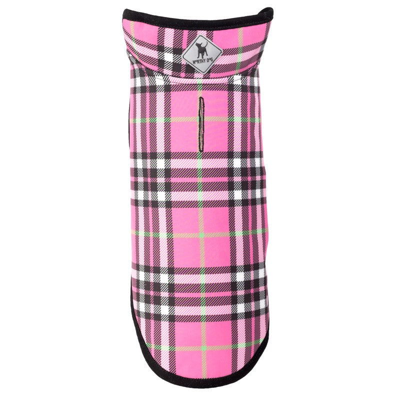 softshell-dog-jacket-hot-pink-plaid