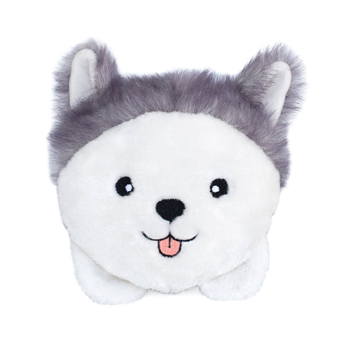 Husky Squeakie Buns Plush Dog Toy