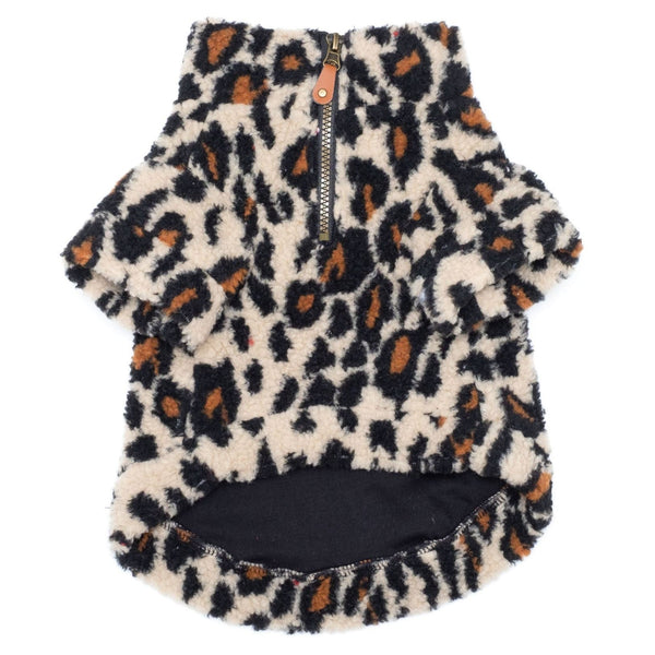 leopard-sherpa-one-quarter-zip-pullover-for-dogs-underside-view